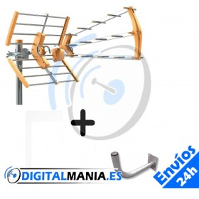 Kit Antena Terrestre G15dB + Soporte pared L