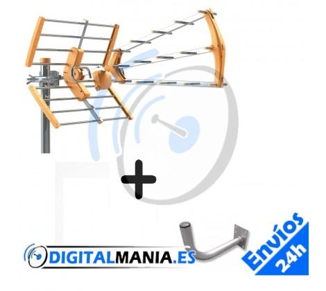 Kit Antena Terrestre G15dB + Soporte pared L